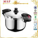 Safety non electric pressure cooker cookware set available stainless steel inner pot with transparent glass lid MSF-3792