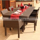 2015 Outoor Rattan Garden furniture Dining Table And Chair/patio furniture factory direct wholesale(DH-0091)