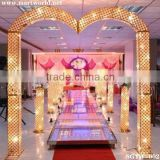 2016 hot new gold&silver led light crystal wedding arch for wedding decoration & party decoration (SGYW-002)                                                                         Quality Choice