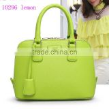 hot sell ladies 10296 lemon fashion design handbag, beautiful women's leather handbag