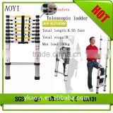 Easy carry EN131 approva 3.8m Aluminum extension ladder telescopic ladder form china suppliers