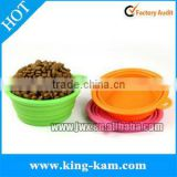 FDA silicone collapsible cat bowl for easy feeding