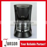 0.6L 4-6 cups 600W high quality coffee maker with glass jar with keep warm function