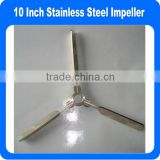 10 Inch Retractable Stainless Steel Impeller For Mixing work in Tank