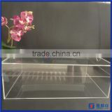 China factory lucite shoe storage box with removable lid for man sneaker / clear acrylic shoes box