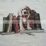 jacquard cushion polycotton cushion for home &hotel decoration &promotion&gift dog and books design-38