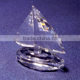 Exquisite Crystal Gift Crystal Sailing Boat for Little Gift Home Decoration                                                                         Quality Choice