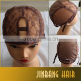 20416 New Premium Factory price human hair brazilian front lace wig caps for making wigs