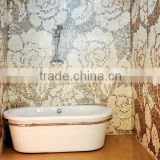 Mother of pearl mosaic tile with pattern design-art mosaic