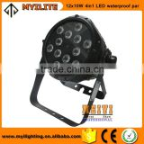 high quality wedding stage 12pcs 10W 4in1 LED waterproof par .Led outdoor waterproof par can