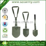 Military tri-fold multi-function foldable shovel