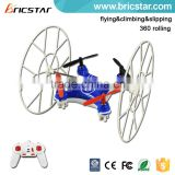 Flying/climbing/slipping 3 IN 1 2.4G rc micro quadcopter with headless mode