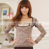 long sleeve shapewear sexy Leopard underwear breast up body beauty
