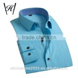 2016 sky blue mens clothing brands bespoke formal shirt