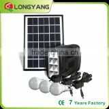 5W Portable solar led light system for home lighting and outdoor lighting with phone charger