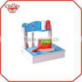 Kid Play Toy Set Tools Modern Modular Wooden Cabinet Kitchen Toy