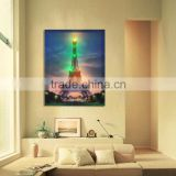 LED lighted canvas wall art printing, beautiful landscape, home decoration, LED canvas printings