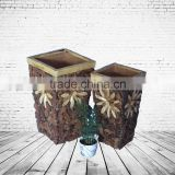 Chinese Tradional Craft Wooden Vase For Decoration