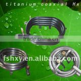 High effiency sailing boat air conditioner coaxial tube-in-tube marine engine heat exchanger