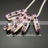 Ladies' Zinc Alloy Neckalce with rhinestones HY09159