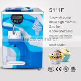 S111F big hopper one flavor stainless steel beater soft ice cream yogurt machine ice cream powder