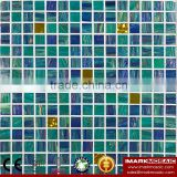 IMARK Pink Gold Star Glass Mosaic Tile Mix Quartz Glass Mosaic Tile Kitchen Tile Bathroom Tile Wall Art Mosaic Tile Cheap Tile