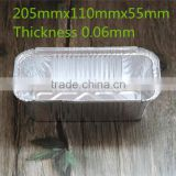 food package aluminum microwave food container, Disposable Oblong Bread Container for take-out