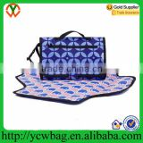Professional laminated cotton portable travel diaper changing pad