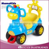 Top quality lovely kid toy vehicle 4 wheels plastic baby ride on cars with push handle