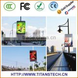 Creative LED Lamp Post Video Display Transparent LED display Glass wall