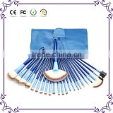 24 PIECES Blue handle eyeshadow 24 pcs Makeup Brush Set tools Make-up Toiletry Kit Make Up Brush Set Case