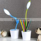 Modern Sapling Pen - holder Desk Light Lithium Battery Led Table Lamps with Touch Dimmer