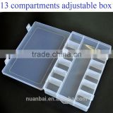 13 Compartments Clear Beads Loom bands kit Plastic Boxes Storage organizer