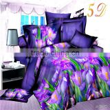 Home Tetile 2016 New 3D Bedding Sets Purple Flower Duvet Cover Set Bed Linen Bed Set Duvet Cover Sheet Pillowcase Queen Size.