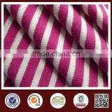 Rayon spandex Y/D Stripe 2*2Rib knit fabric for lady's wear