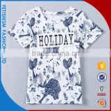2017 New Design Best Quality Printed Summer Cotton Latest Boy T-Shirt White Boys Shirts For Little Boy