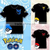 Hot 2016 POKEMON GO Shirt Team INSTINCT Mystic Valor Funny t shirt Mens T-shirts Cotton Tee Tops Casual Clothing