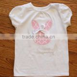 wholesale blank baby clothes girl's summer boutique embroidered T-shirt baby girl clothes