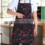 Man cotton canvas black color OEM kitchen bib apron