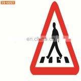 Alibaba Supplier Protection Roadway Safety Sticker Aluminum Plate And Stand Road Sign