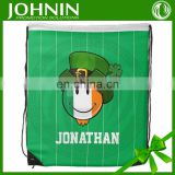 logo printed oem custom cheap promotional polyester drawstring bag
