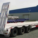 Sinotruk 3 axles low bed 60tons lowbed semi trailer