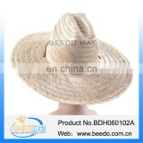 Colombian mat grass material plain straw hat for male