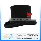 Best quality wool felt victorian black top hats for sale