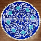 Indian round mandala tapestry outdoor picnic beach blanket towel scarf