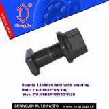 Scania 1368694 bolt with knurling