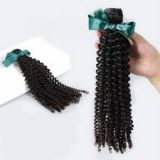 Double Wefts  Tangle free Indian Curly Human Hair For Black Women