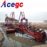 River bucket chain gold dredging boat for sale