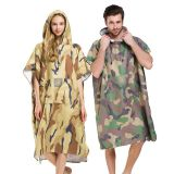 Super Absorb camouflage Bath Robe, Surf Poncho Microfiber double face fabric hooded Towel One Size Fit All