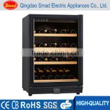 wholesale double tempered anti-UV glass door wine storage rack                                                                                                         Supplier's Choice